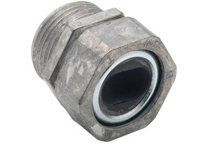 Service Entrance, Cable Connector, Zinc Die Cast, Grommet Opening Size 1.100 x 1.750 Inch