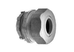 Connector, Cord Grip, Straight, Zinc Die Cast, Size K.O. 1/2 Inch, Cord Range .125 Inch - .187 Inch