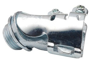 Connector, 45 Degree, Malleable Iron, Flex Size 1/2 Inch