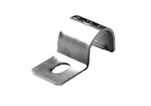 Strap, One Hole Pipe, Malleable Iron, Size 3/8 Inch
