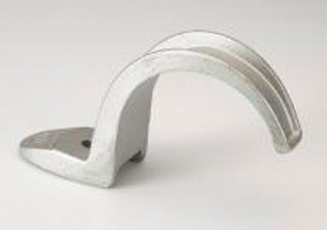 Strap, One Hole, Malleable Iron, Size 4 Inch