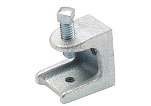Clamp, Beam, Insulator Support, Malleable Iron, Tap Size (UNC) 1/4-20,  125 lbs Max Load.
