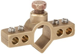 Mighty-Bond® Intersystem Ground Rod Bridge Clamp