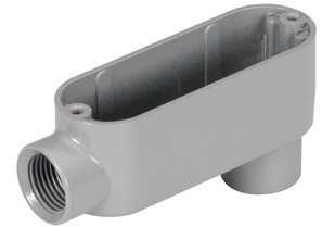 Rigid and IMC Conduit Body, Type LB, Aluminum, Size 1/2 Inch