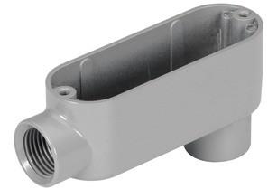 Rigid and IMC Conduit Body, Type LB, Aluminum, Size 1 Inch