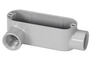 Rigid and IMC Conduit Body, Type LL, Aluminum, Size 3/4 Inch