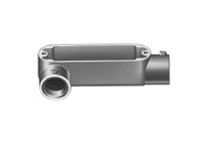 EMT Conduit Body, Type LR, Set Screw, Aluminum, Size 2 Inch