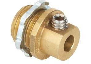 "1/2"" Mighty-Bond® Brass Equipment Bonding Connector/Coupling"