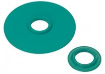 "Mighty-Seal® 3/4"" to 1/2"" Raintight Reducing Washers. Product contains one coated and one uncoated galvanized steel reducing washer. Maintains Raceway Integrity. Sunlight Resistant. Suitable for use in Wet Locations."