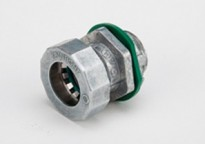 Bridgeport Fittings Mighty-Seal® 1/2 inch EMT Connectors are used to connect a 1/2 inch EMT raceway to a box, device or enclosure. The 250MSRT 1/2 inch Mighty-Seal® connector is UL listed for use in wet locations. Raintight. Patented