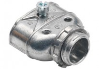 "Connector, Duplex, Zinc Die Cast. For AC/MC 3/8"" FMC and Non-Metallic Cables."