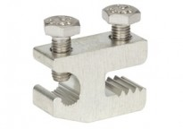 "Bridgeport Fittings ALI-SLR is an Aluminum and Copper Lay-in Lug that was designed for use with Solar racking and support structures of 1/4"" width or less.  Lug conductor range: Aluminum or Copper #4-#14 AWG"