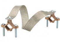 "Copper clamps with 24"" tinned copper braid. Braid equivalent to 1/0 GA,-4"" movement."