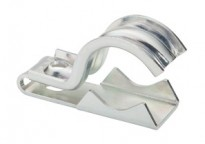"One piece clamp back and strap combination, 1 hole, Steel, 1/2"" - 3/4"" Trade Size. Patented."