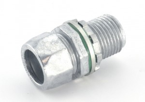 Raintight Compression Connector with Extra Long Threads