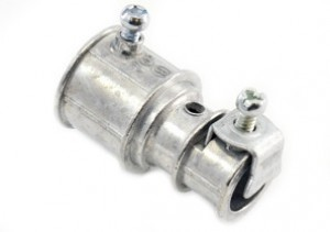 Mighty-Merge Set Screw MC Cable to EMT Transition Coupling