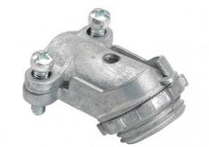 Connector, 45 Degree, Zinc Die Cast