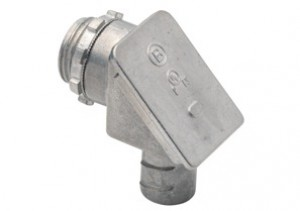 Connector, Screw-In, Zinc Die Cast, 90 degree