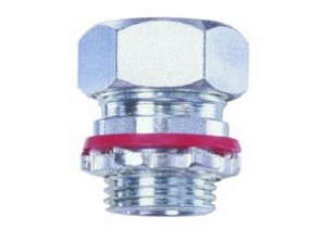 Connector, cord grip, straight, steel