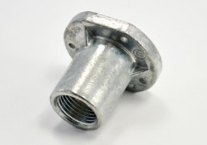 Rigid threaded concrete encasable flanged fitting