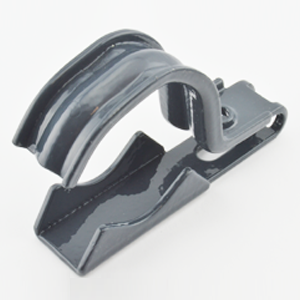 Mighty-Hold Universal Clamp Strap, 1 hole, Steel, Cor-Shield Polyolefin Coated