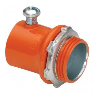 EMT Connector, Color-Coded, Steel, Orange
