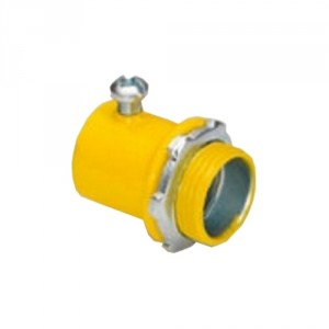 EMT Connector, Color-Coded, Steel, Yellow