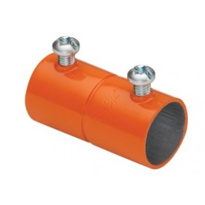 EMT Couplings, Color-Coded, Steel, Orange