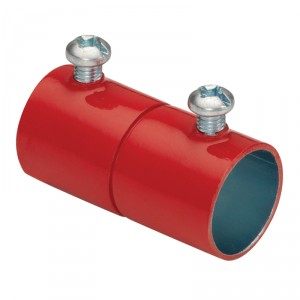 EMT Couplings, Color-Coded, Steel, Red