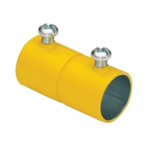EMT Couplings, Color-Coded, Steel, Yellow