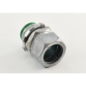 Connector, Compression, Zinc Die Cast, 105°C Insulated Throat