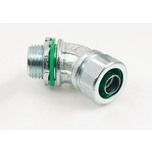 Connector, Liquid Tight, 45 Degree, US Steel, Insulated Throat
