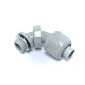 Nylon, Swivel Type, Multi-Angle Connector for 0 to 90 degree Non-Metallic Liquidtight (LNMFC)Connections