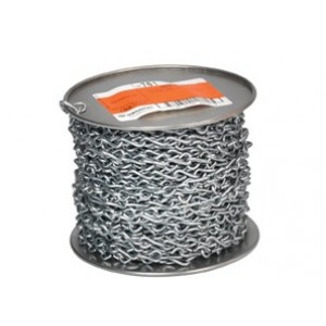 Jack Chain, Steel, #12, 100-feet/SpoolPriced per foot, order 1 Spool = 100 ft