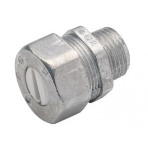 Connector, UF, Zinc Die Cast, Size 1/2 Inch