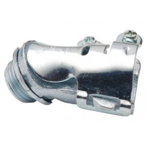 Connector, 45 Degree, Malleable Iron