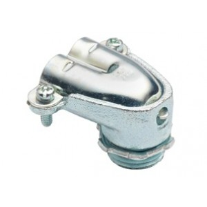 Connector, Duplex, 90 Degrees, Malleable Iron