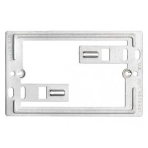 Bracket, Mounting, Communication / Data Plate, Zinc plated steel