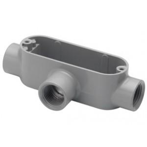 Rigid and IMC Conduit Body, Type T, Aluminum - Combination Type