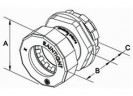 Bridgeport Fittings Mighty-Seal® 3/4 inch EMT Connectors are used to connect a 3/4 inch EMT raceway to a box, device or enclosure. The 251MSRT 3/4 inch Mighty-Seal® connector is UL listed for use in wet locations. Raintight. Patented thumb1