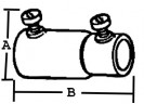 Set Screw Coupling, Combination, Steel, Size 3/4 Inch thumb1