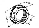 Bushing, Plastic - 105 Degrees C, Size 3/4 Inch thumb1