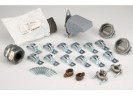Service Entrance Kit consisting of (1) 1242-PVC entrance head, (1) 766-3 watertight connector, (1) DS-100 duct seal, (2) 676-DC2 non-watertight connectors, (10) 1884-SE two hole steel straps, (2) 1308-DC water pipe ground clamps, (2) GRC-63 ground rod clamps,(1)new sill plate 940-C. thumb0